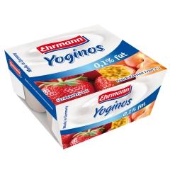 爱尔曼低脂草莓/低脂桃子西番莲酸奶 4*100克