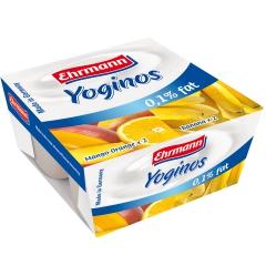 爱尔曼低脂香蕉/低脂芒果橙酸奶4*100g