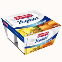 爱尔曼低脂杏/菠萝酸奶 4*100克